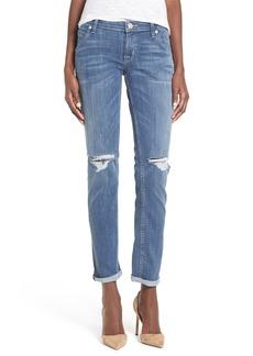 Hudson Jeans 'Jax' Destroyed Boyfriend Skinny Jeans (Battle Field)