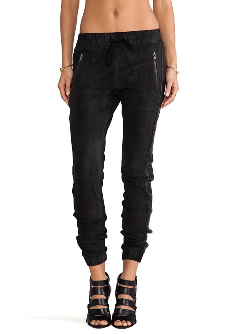 Hudson Jeans Katie Crop Sweatpant in Black