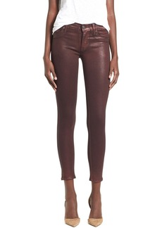 Hudson Jeans 'Krista' Ankle Skinny Jeans (Metallic Amber)