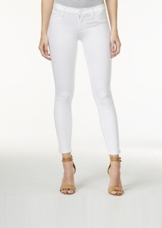 Hudson Jeans Krista Cropped White Wash Skinny Jeans
