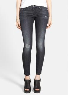 Hudson Jeans 'Krista' Distressed Raw Hem Skinny Jeans (Lala Land)