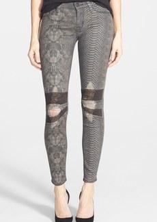 Hudson Jeans 'Krista' Python Skinny Jeans (Amorphous)