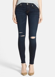 Hudson Jeans 'Krista' Raw Hem Super Skinny Jeans (Overthrown)