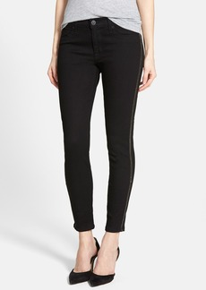 Hudson Jeans 'Luna' Chain Stripe Crop Skinny Jeans (Black)