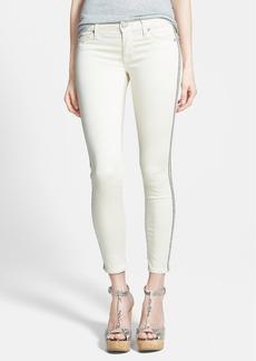 Hudson Jeans 'Luna' Embellished Crop Jeans (Bone White)