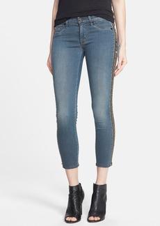 Hudson Jeans 'Luna' Embellished Crop Skinny Jeans (Unfiltered)