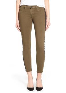 Hudson Jeans 'Luna' Grommet Super Skinny Crop Jeans (Fillmore Green)