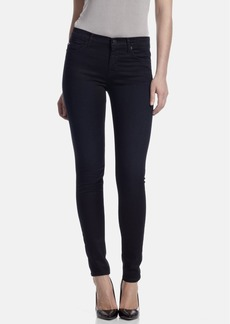 Hudson Jeans Mid Rise Super Skinny Jeans (Vinyl)