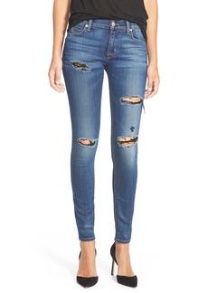 Hudson Jeans 'Nico' Distressed Skinny Jeans (Apocalypse)
