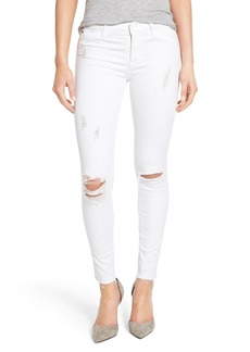 Hudson Jeans 'Nico' Mid Rise Distressed Ankle Skinny Jeans (Dreamer)