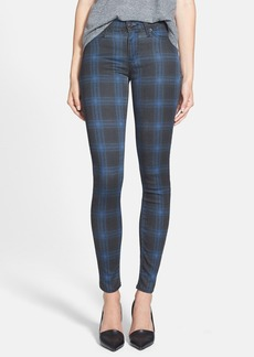 Hudson Jeans 'Nico' Mid Rise Skinny Stretch Jeans (Cadet Punk Plaid)