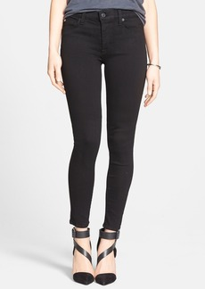 Hudson Jeans 'Nico' Mid Rise Super Skinny Jeans (Black)