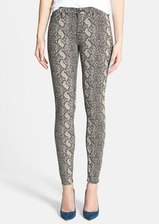 Hudson Jeans 'Nico' Mid Rise Super Skinny Jeans (Sepia Serpent)