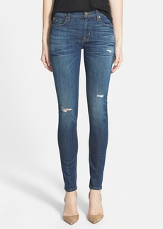 Hudson Jeans 'Nico' Print Skinny Stretch Jeans (Cruel)