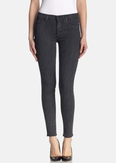 Hudson Jeans 'Nico' Super Skinny Jeans (Anarchy Pinstripe)