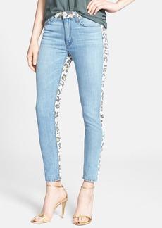 Hudson Jeans 'Patti' Print Back Skinny Jeans (Posterior Prey)