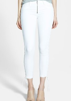 Hudson Jeans 'Raven' Lace Up Crop Jeans (White)