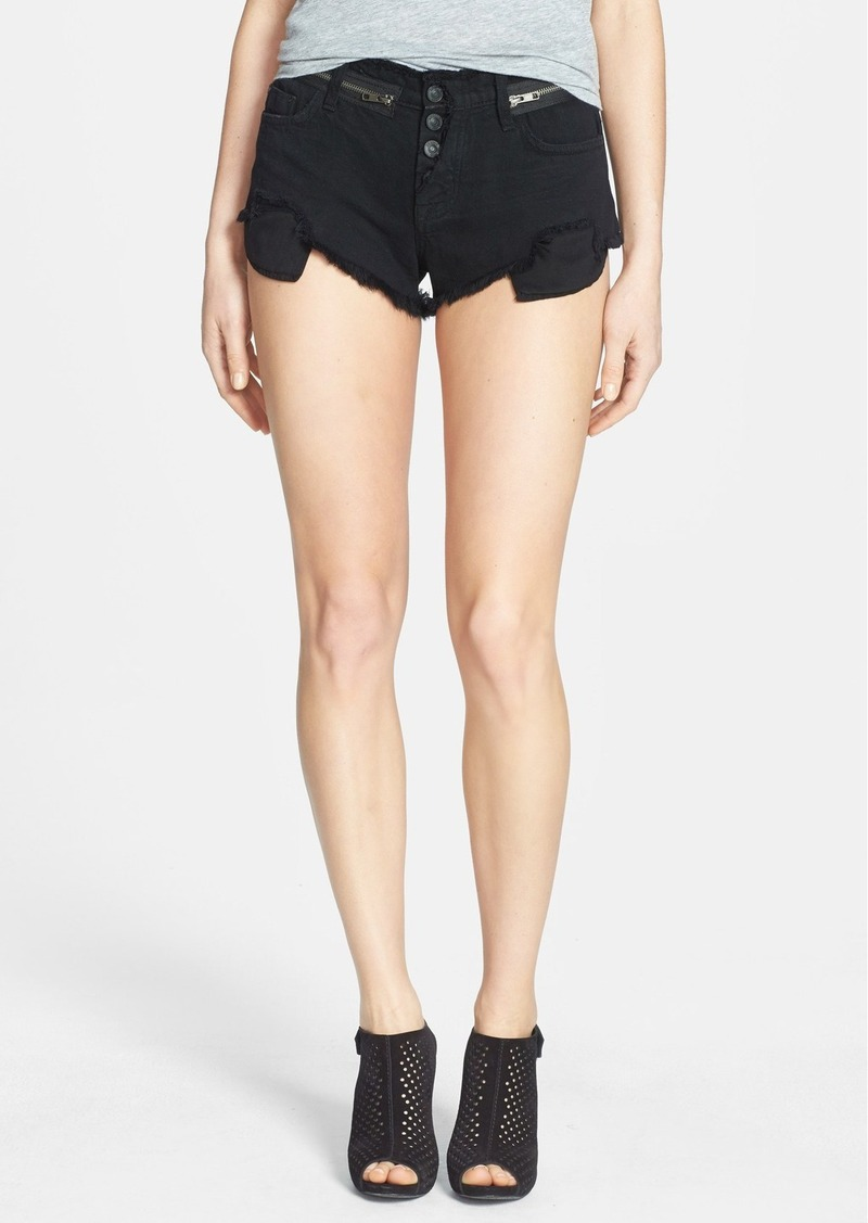 Hudson Jeans 'Rebel' Denim Shorts (Black Indigo)