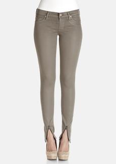 Hudson Jeans 'Refine' Zip Cuff Super Skinny Jeans (Clove Green)