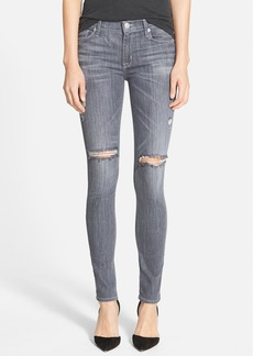 Hudson Jeans 'Shine' Mid Rise Skinny Jeans (Obsidian)