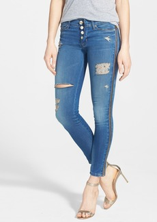 Hudson Jeans Side Zip Destroyed Crop Skinny Jeans (Foxey)