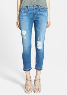 Hudson Jeans 'Skylar' Crop Skinny Jeans (Adored)