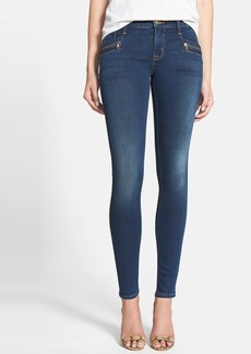 Hudson Jeans 'Spark' Zip Detail Super Skinny Jeans (Ignorance is Bliss)