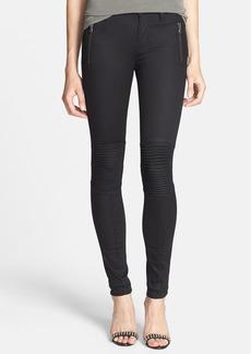 Hudson Jeans 'Stark' Moto Skinny Jeans (Black Night)