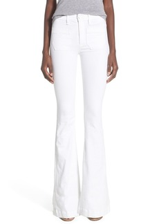 Hudson Jeans 'Taylor' High Rise Flare Jeans (White)