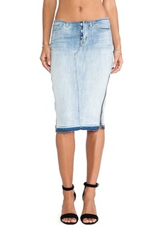 Hudson Jeans Vivienne Pencil Skirt in Blue