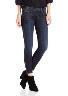 Hudson Jeans Women's Ava Ankle Skinny Jean with Perforated Leather