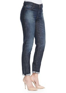 Hudson Jude Slouchy Cuffed Faded Jeans, Rebellion