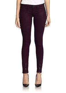 Hudson Juliette Coated Ankle-Zip Jeans