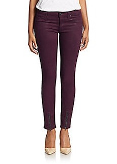 Hudson Juliette Coated Ankle-Zip Jeans