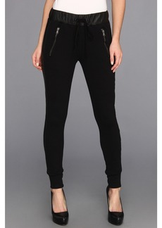 Hudson Katie Sweatpant w/ Leather Sides