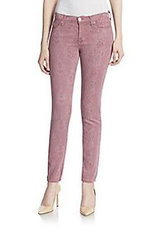 Hudson Lace-Print Skinny Jeans