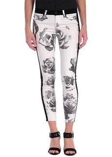 Hudson Leeloo Super Skinny Crop in Black / White Floral