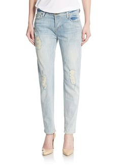 Hudson Leigh Distressed Boyfriend Jeans