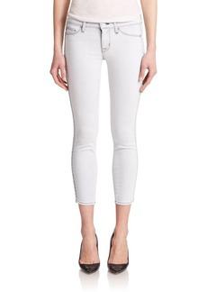 Hudson Luna Embellished Cropped Skinny Jeans
