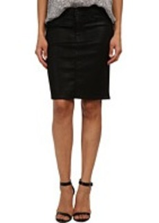 Hudson Mattie Pencil Skirt in Black Wax