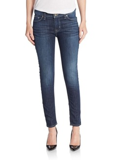 Hudson Mid-Rise Super Skinny Ankle Jeans