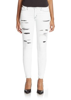 Hudson Nico Distressed Super Skinny Jeans