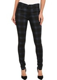 Hudson Nico Mid-Rise Super Skinny in Cadet Punk Plaid