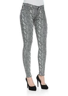 Hudson Nico Python-Print Skinny Jeans, Sepia Serpent