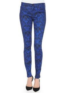 Hudson Nico Python-Print Super Skinny Jeans, Constrictor
