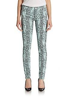 Hudson Nico Snakeskin Printed Skinny Jeans