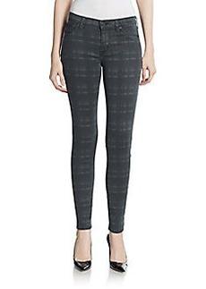 Hudson Nico Super Skinny Tonal Plaid Jeans