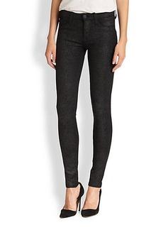 Hudson Nico Textured Ponte Skinny Jeans
