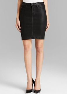 Hudson Pencil Skirt - Mattie Coated Denim