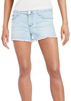 Hudson Raw-Edge Hem Shorts